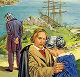 Garibaldi, now a deserter from the navy, fled to France