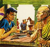 Telemachus was introduced to a newcomer named Mentes