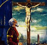 Titian painted many pictures for King Phillip II of Spain, including his famous Crucifixion