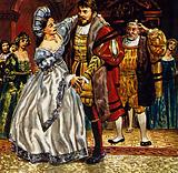 Petruchio danced with Katherine, who had become the most obedient and dutiful wife in Padua