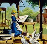 As a child, Anna Mary Robertson enjoyed painting