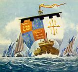 William sailed from Normandy to Englanda in 1066