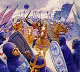 William charged the disordered Saxons and won the battle
