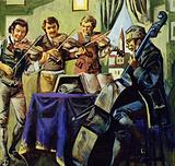 Taught music at school, Schubert enjoyed playing quartets with his family