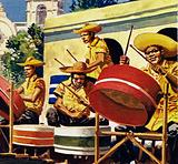 The rhythmic drumming survived the slave trade as the calypso, the rhumba and the conga