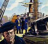 Commander Farragut showed Aronnax around the Abraham Lincoln