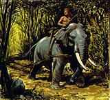 Bandoola, the elephant, worked in the teak forests of central Burma