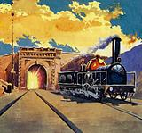 Brunel completed the Thames tunnel and also built Box Tunnel and the Great Western Railway