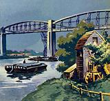 Brunel built the iron bridge across the River Tamar at Saltash