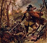 Raleigh burned down a Spanish settlement in revenge for the death of his son