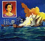 Alexis Orloff used fireships to crush the Turkish fleet