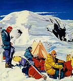 The expedition set up eight camps, the last 2,000 feet below the summit