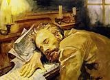 Tschaikovsky was often exhausted and would fall asleep at his piano