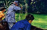 Fawcett claimed that he shot a water snake that he estimated was 62 feet long