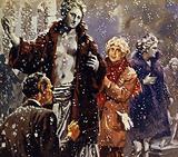 As a joke, Harpo dressed statues in fur coats when he saw it was snowing