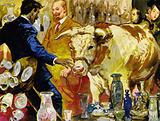 To disprove the saying, Moran took a bull into a china shop