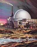 The nuclear power plant at Dounreay in Scotland
