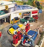 Garage, England, 1960s