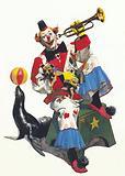Clown at the circus