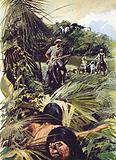Colonel Percy Fawcett exploring the Matto Grosso