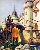 King Francis I of France, superintending the building of castles