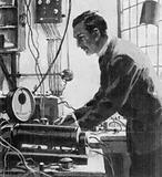 Ernest Rutherford, experimenting in his tin shed