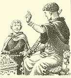 Harold, as a prisoner of William Duke Of Normandy, was forced to make a solemn promise to be William's vassal