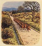 A roman road in Britain