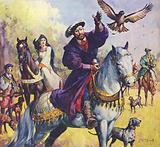 King Henry VIII and Anne Boleyn hunting