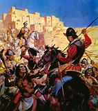 The Pueblo Indians of North Arizona attacked by Spanish Conquistadors