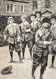 Isaac Newton (left), having just beaten the school bully