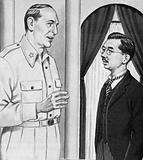 Hirohito meets General Douglas MacArthur for the first time, September 1945