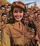 Vera Lynn boosting morale in the armed forces in WW2