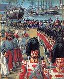 British troops arriving in Malta on the way to the Crimea