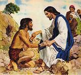 Jesus Christ cures a madman