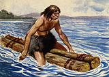 The earliest boat was presumably made of tree trunks tied together
