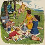 Family picnic, 1960s England