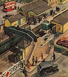 Railway station, England, 1960s