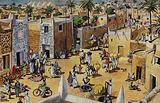 The old and famous city of Kano in Nigeria