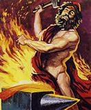 Vulcan, the Roman God Of Fire, and blacksmith to the Gods
