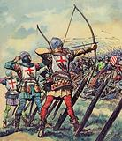 English bowmen at The Battle Of Crecy