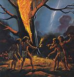 Prehistoric man and Fire
