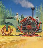 Steam traction engine created to work in the sugar plantations of Cuba