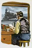 Thomas Edison, the railway telegraphist