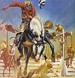 American bronco rider