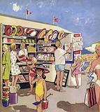 The Beach Kiosk Lady