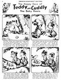 Teddy and Cuddly. Comic strip from Jack and Jill, 6 April 1957.