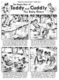 Teddy and Cuddly. Comic strip from Jack and Jill, 13 July 1957