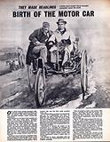 They Made Headlines: Birth of the Motor Car