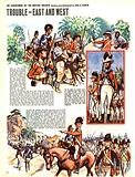 My Scrapbook of the British Soldier: Trouble –  East and West